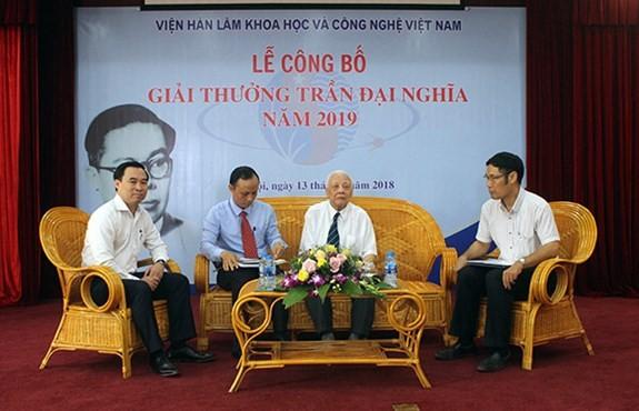 Image result for Giải thưởng Trần Đại Nghĩa năm 2019