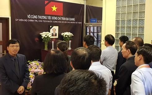 ĐSQ Việt Nam tại các nước mở sổ tang viếng Chủ tịch nước Trần Đại Quang - ảnh 5
