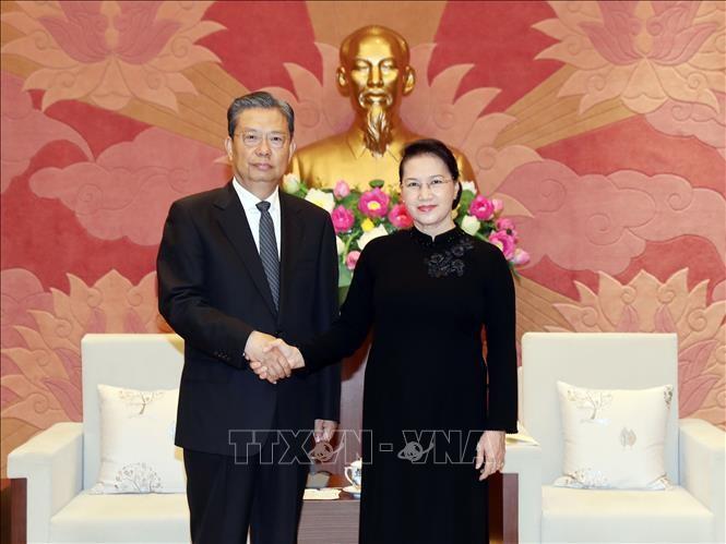 Chủ tịch Quốc hội Nguyễn Thị Kim Ngân tiếp Bí thư Ủy ban Kiểm tra Kỷ luật Trung ương Đảng Cộng sản Trung Quốc Triệu Lạc Tế - ảnh 1