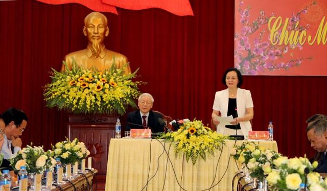 Tổng Bí thư, Chủ tịch nước Nguyễn Phú Trọng làm việc với Tỉnh Yên Bái - ảnh 1