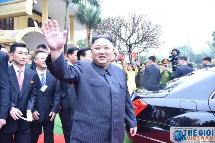 Những hình ảnh Chủ tịch Triều Tiên Kim Jong-un đến Việt Nam - ảnh 3
