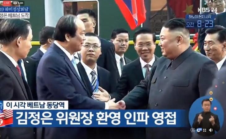 Những hình ảnh Chủ tịch Triều Tiên Kim Jong-un đến Việt Nam - ảnh 9