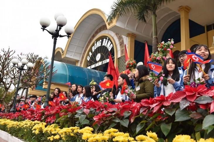 Những hình ảnh Chủ tịch Triều Tiên Kim Jong-un đến Việt Nam - ảnh 4