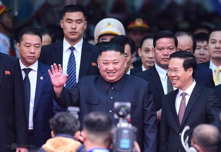 Những hình ảnh Chủ tịch Triều Tiên Kim Jong-un đến Việt Nam - ảnh 8