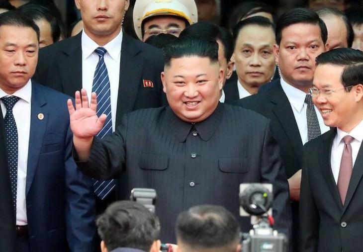 Những hình ảnh Chủ tịch Triều Tiên Kim Jong-un đến Việt Nam - ảnh 2