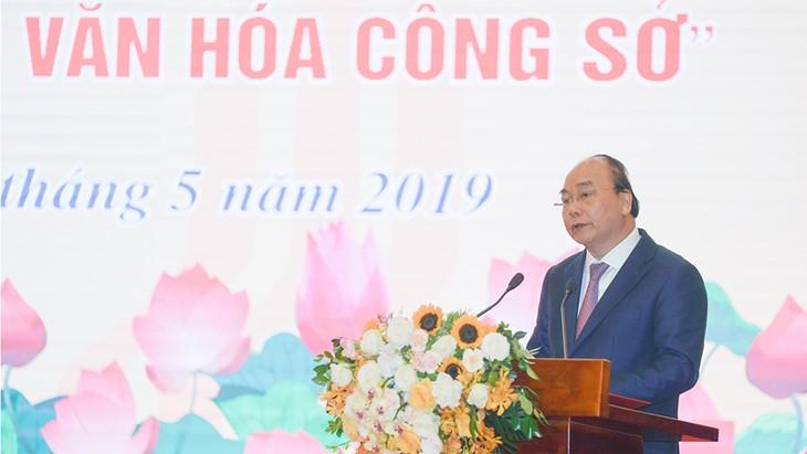 Thủ tướng Nguyễn Xuân Phúc phát động Phong trào thi đua thực hiện văn hóa công sở - ảnh 1