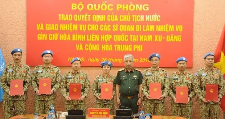 Thêm 7 sỹ quan Việt Nam đi làm nhiệm vụ gìn giữ hoà bình Liên Hợp quốc - ảnh 1