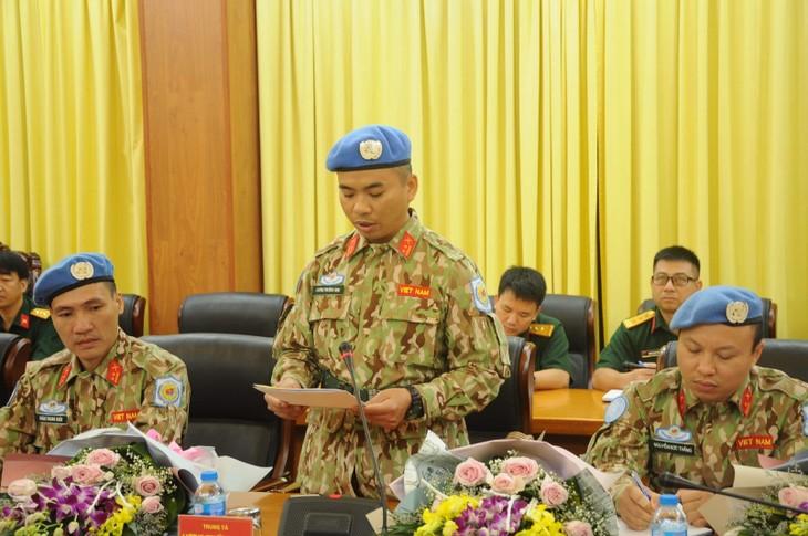 Thêm 7 sỹ quan Việt Nam đi làm nhiệm vụ gìn giữ hoà bình Liên Hợp quốc - ảnh 2