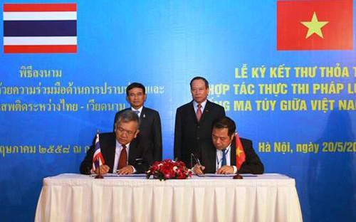 Ký thư thỏa thuận hợp tác đấu tranh phòng chống tội phạm ma túy Việt Nam – Thái Lan - ảnh 1