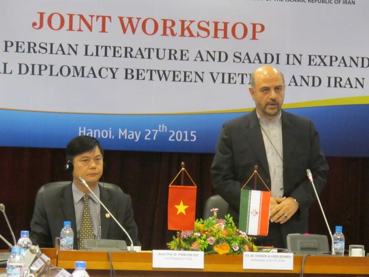 Mở rộng ngoại giao văn hóa giữa Iran và Việt Nam qua Văn học Ba Tư  - ảnh 1