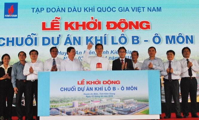 Thủ tướng Nguyễn Tấn Dũng bấm nút khởi động chuỗi dự án Khí Lô B - Ô Môn - ảnh 1