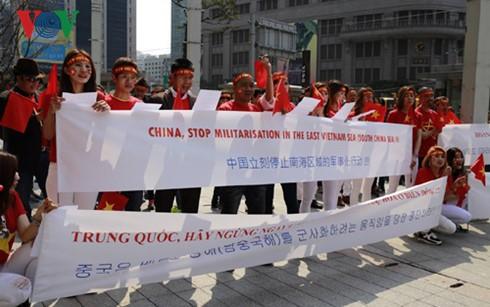 Người Việt Nam tại Hàn Quốc biểu tình phản đối Trung Quốc  - ảnh 1