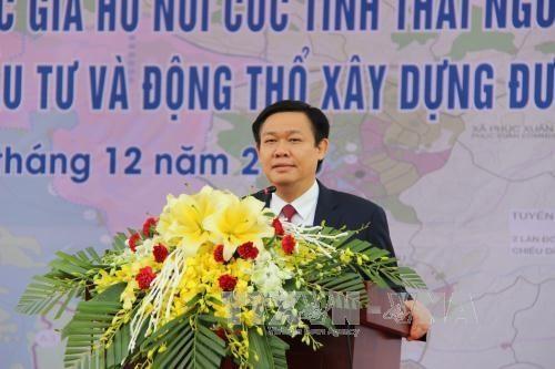 Phó Thủ tướng Vương Đình Huệ dự lễ quy hoạch và khởi công 2 dự án trọng điểm tại Thái Nguyên  - ảnh 1