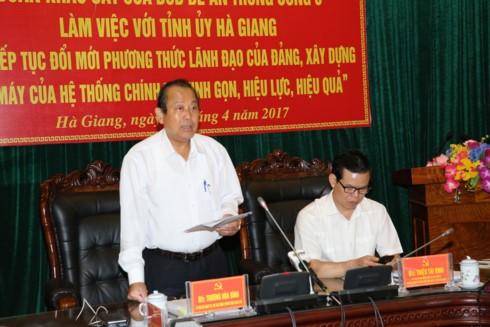 Phó Thủ tướng Trương Hòa Bình làm việc tại tỉnh Hà Giang về công tác dân tộc - ảnh 1