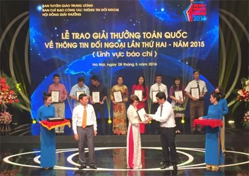 Lễ trao Giải thưởng Toàn quốc về Thông tin Đối ngoại 2016 - ảnh 1