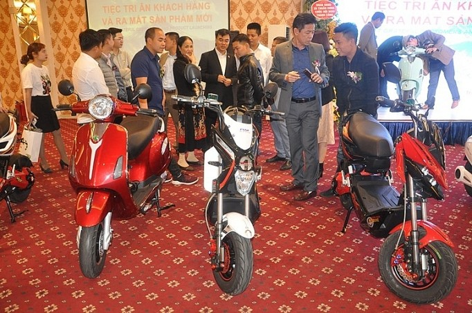 Vietnam rolls out its first environmentally friendly electric motorbikes  - ảnh 1