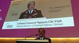 รัฐมนตรีช่วยกลาโหมเวียดนามNguyễn Chí Vịnhกล่าวปราศรัยในการสนทนาแซงกรีล่า - ảnh 1