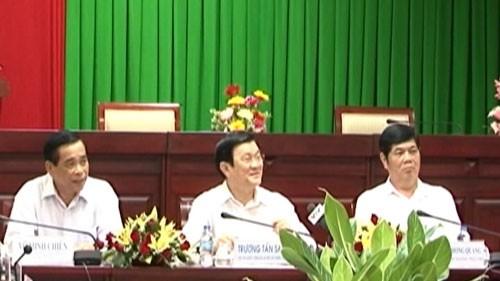 ประธานประเทศ Trương Tấn Sang ลงพื้นที่จังหวัด Sóc Trăng - ảnh 1