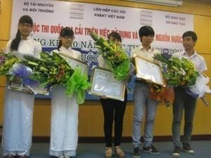 มอบรางวัลการแข่งขันระดับชาติ เกี่ยวกับการปรับปรุงการใช้และปกป้องแหล่งน้ำ - ảnh 1