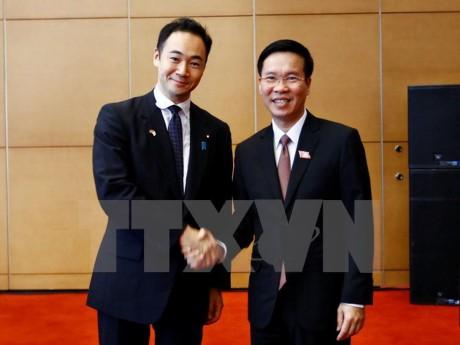 Trưởng Ban Tuyên giáo Trung ương tiếp Đoàn đại biểu Ban Thanh niên Đảng DCTD Nhật Bản - ảnh 1