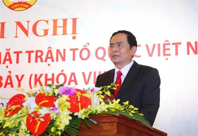 Chủ tịch Ủy ban Trung ương MTTQ Việt Nam Trần Thanh Mẫn thăm, chúc mừng Hội Cựu chiến binh Việt Nam - ảnh 1