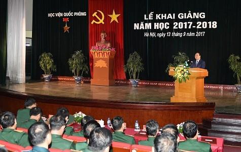 Thủ tướng Nguyễn Xuân Phúc dự Lễ khai giảng năm học mới của Học viện Quốc phòng - ảnh 1