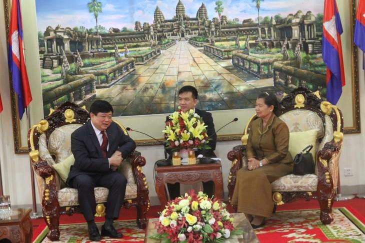 Lãnh đạo Campuchia tiếp đoàn công tác của Đài Tiếng nói Việt Nam - ảnh 1