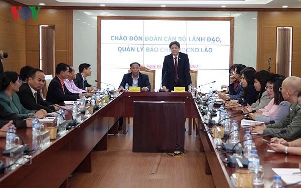 Lãnh đạo Đài TNVN tiếp Đoàn cán bộ Lãnh đạo, Quản lý báo chí Lào - ảnh 1