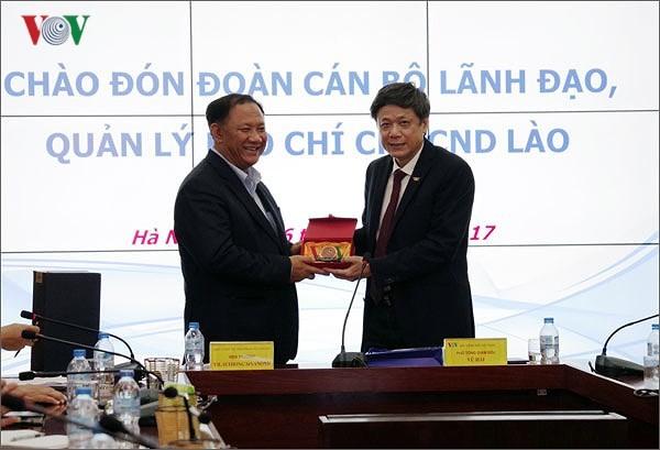 Lãnh đạo Đài TNVN tiếp Đoàn cán bộ Lãnh đạo, Quản lý báo chí Lào - ảnh 2