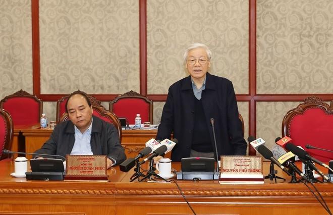 Tổng Bí thư Nguyễn Phú Trọng yêu cầu làm tốt công tác cán bộ - ảnh 1