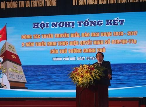 Đẩy mạnh tuyên truyền về biển đảo gắn với phát triển kinh tế xã hội, đảm bảo an ninh, quốc phòng - ảnh 1