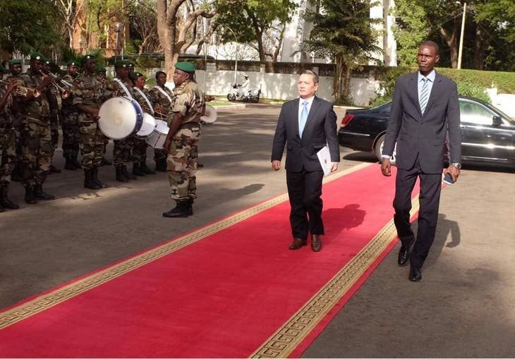 Đại sứ Việt Nam trình quôc thư tại Mali - ảnh 1