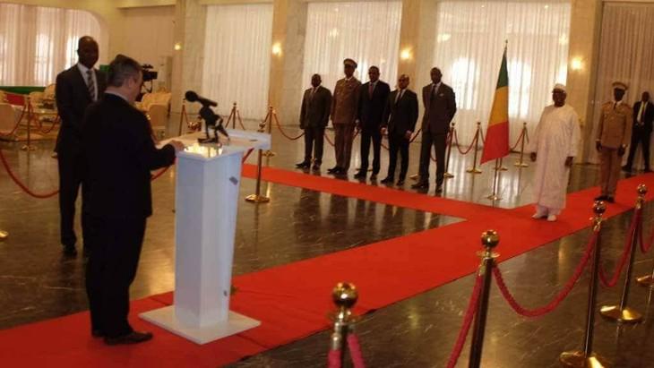 Đại sứ Việt Nam trình quôc thư tại Mali - ảnh 4
