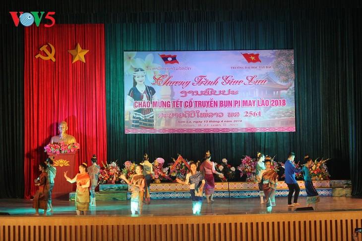 Tổ chức Tết Bunpimay cho các lưu học sinh Lào tại Sơn La  - ảnh 1