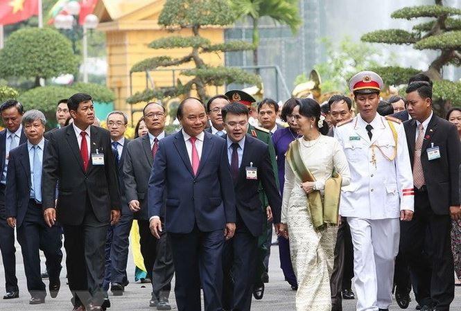Cố vấn Nhà nước Cộng hòa Liên bang Myanmar kết thúc chuyến thăm chính thức Việt Nam  - ảnh 1