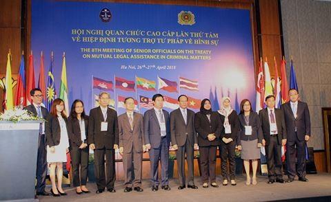 Hội nghị quan chức cao cấp lần thứ tám Hiệp định tương trợ tư pháp về hình sự giữa các nước ASEAN - ảnh 1