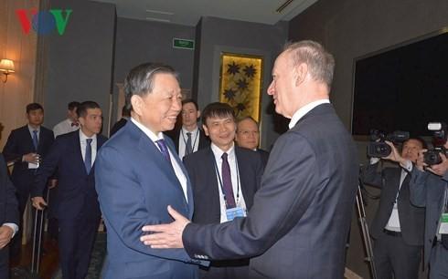 Bộ trưởng Công an Tô Lâm tham dự Hội nghị lãnh đạo phụ trách an ninh tại Nga - ảnh 1