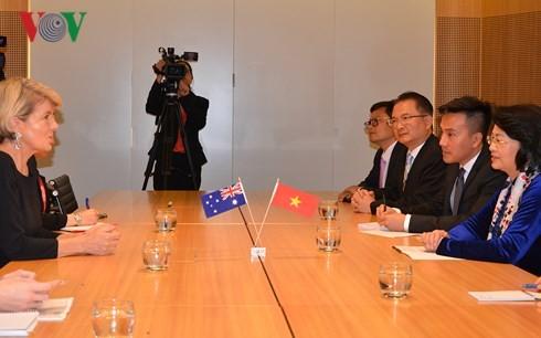 Phó Chủ tịch nước Đặng Thị Ngọc Thịnh tiếp Bộ trưởng Ngoại giao Australia - ảnh 1