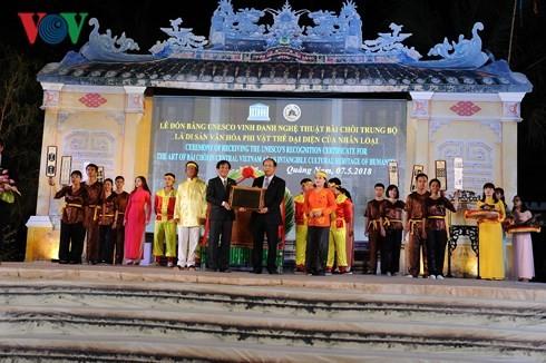Tỉnh Quảng Nam đón Bằng Di sản Văn hóa Thế giới nghệ thuật bài chòi - ảnh 1