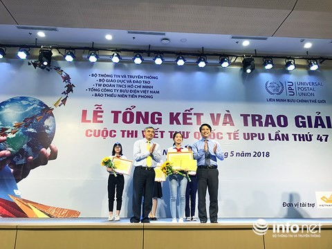 Trao giải cuộc thi viết thư Quốc tế UPU lần thứ 47 dành cho thiếu nhi - ảnh 1