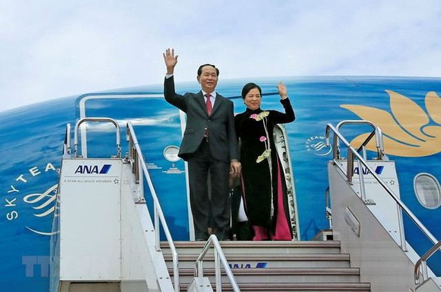 Nhật Bản dành nghi thức cấp cao nhất chào đón Chủ tịch nước Trần Đại Quang và Phu nhân - ảnh 1