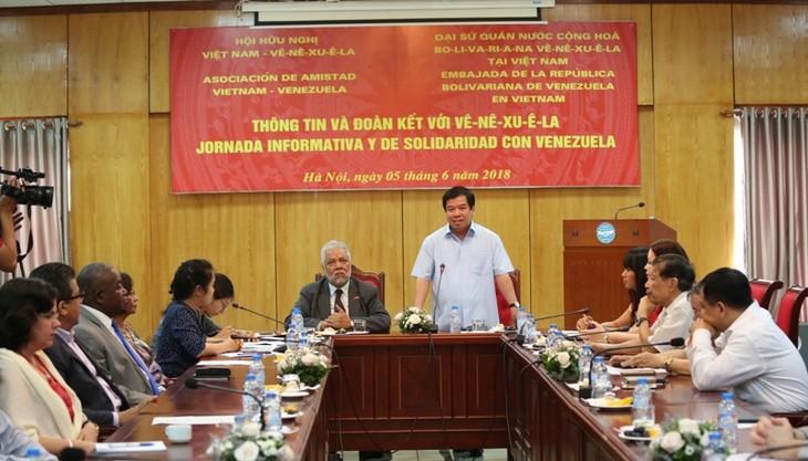 Tăng cường tình hữu nghị Việt Nam-Venezuela  - ảnh 1