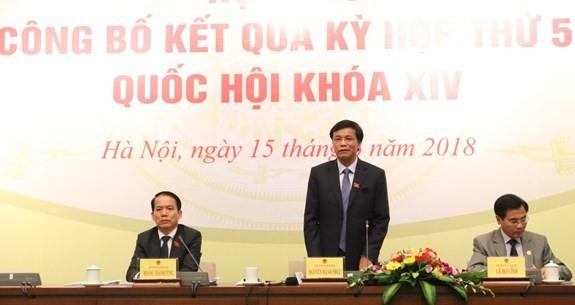 Kỳ họp thứ 5, Quốc hội khóa XIV: Chuyển mạnh từ Quốc hội tham luận sang Quốc hội tranh luận - ảnh 1