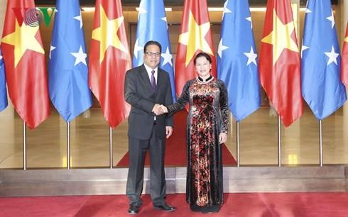 Chủ tịch Quốc hội Liên bang Micronesia kết thúc chuyến thăm chính thức Việt Nam - ảnh 1