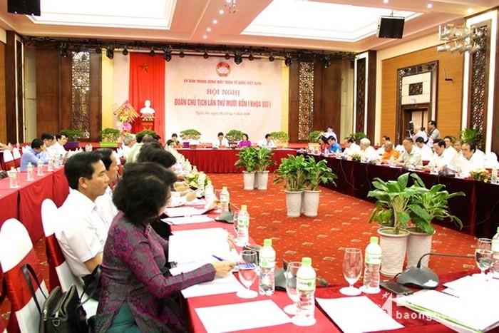 Hội nghị Đoàn Chủ tịch Ủy ban Trung ương Mặt trận Tổ quốc Việt Nam lần thứ 14 - ảnh 1