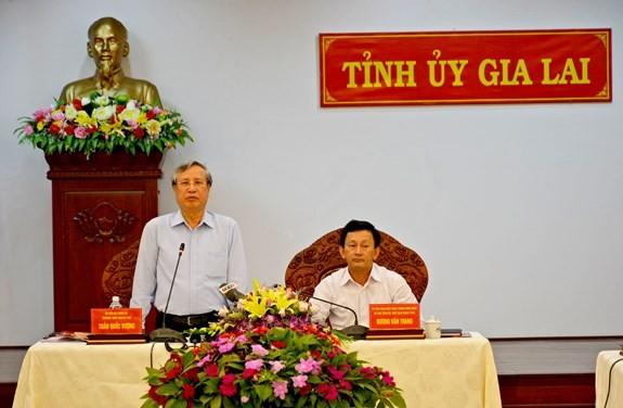 Thường trực Ban Bí thư Trần Quốc Vượng làm việc tại tỉnh Gia Lai - ảnh 1