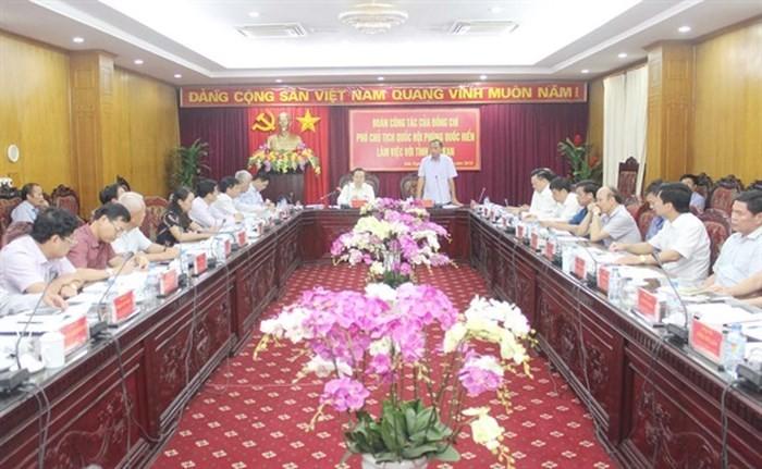 Phó Chủ tịch Quốc hội Phùng Quốc Hiển thăm, làm việc tại Bắc Kạn  - ảnh 1