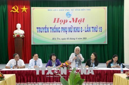 Phó Chủ tịch nước Đặng Thị Ngọc Thịnh dự họp mặt phụ nữ Khu 8 - ảnh 1