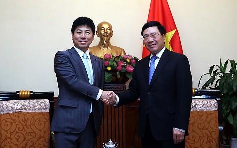 Phó Thủ tướng, Bộ trưởng Ngoại giao Phạm Bình Minh tiếp Quốc vụ khanh Bộ Ngoại giao Nhật Bản - ảnh 1