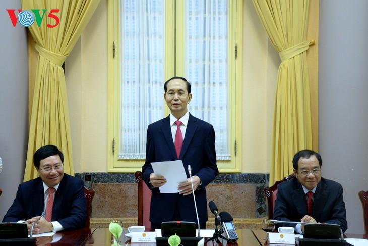 Chủ tịch nước Trần Đại Quang: Phục vụ tốt nhất lợi ích quốc gia - dân tộc và sự phát triển bền vững  - ảnh 1